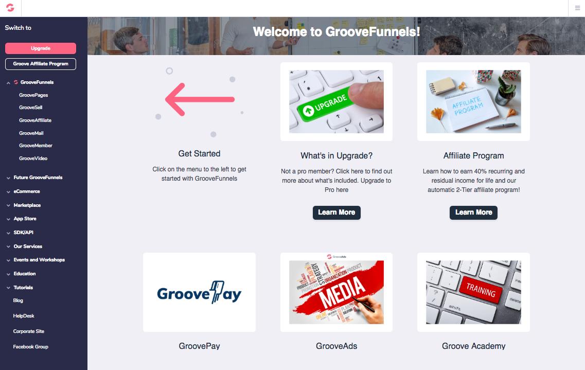 Programme d'affiliation GrooveFunnels